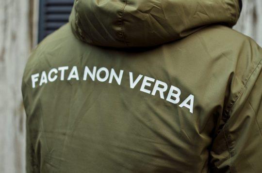 ZeroTen Vendetta Jacket Facta non Verba Olive
