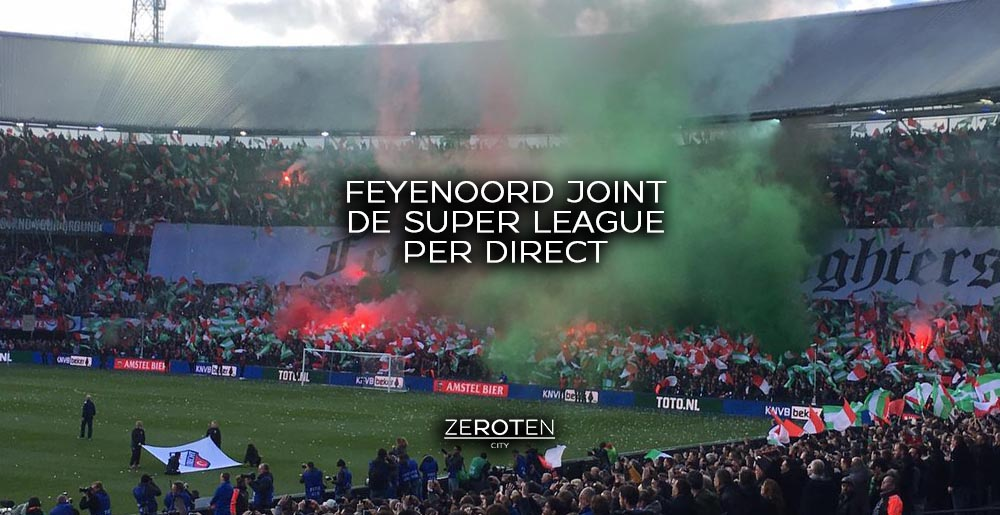 Feyenoord joint de super league per direct